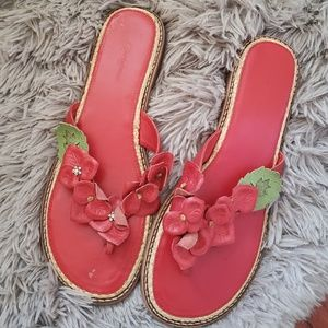 BRIGHTON Red Leather Sandals
